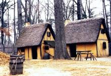 Reconstructed houses at Jamestown, VA