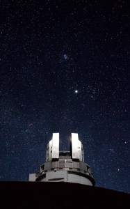 Japan's 8.2m Subaru telescope at the summit of Mauna Kea, Hawaii.