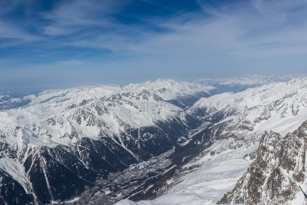 Chamonix valley - surrounded by majestic peaks.