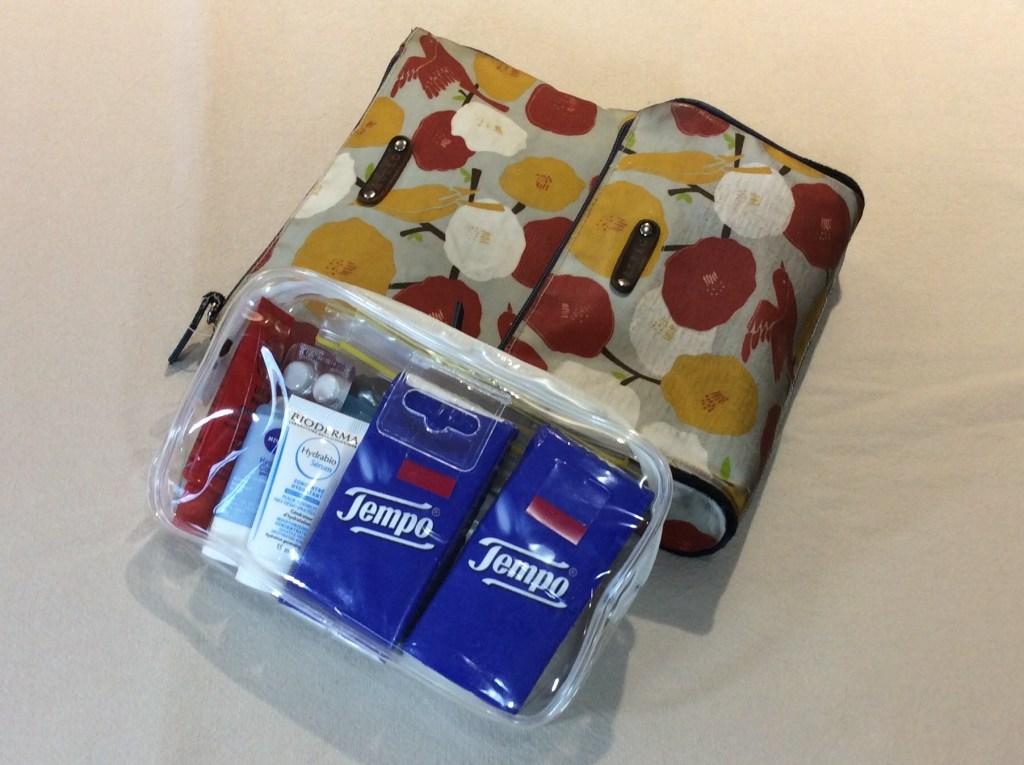 Packing toiletries
