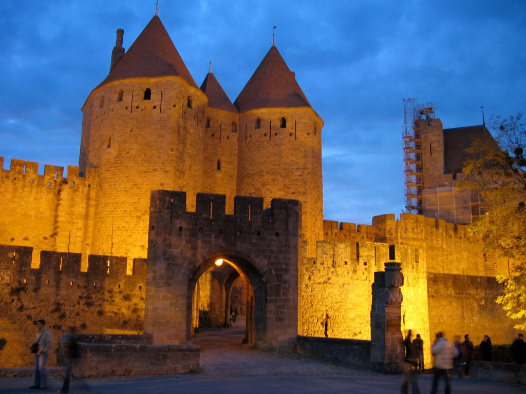 Carcassonne at night Taste of France The Franco-Files