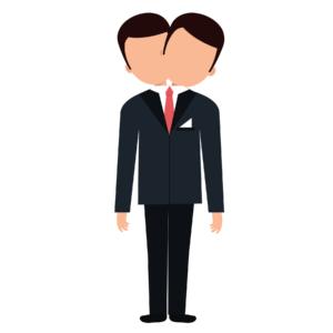 Two headed employee