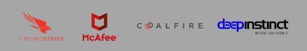 Security softwares: Crowdstrike, McAfee, Coalfire, Deepinstinct