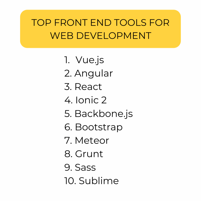 top front end tools for web development