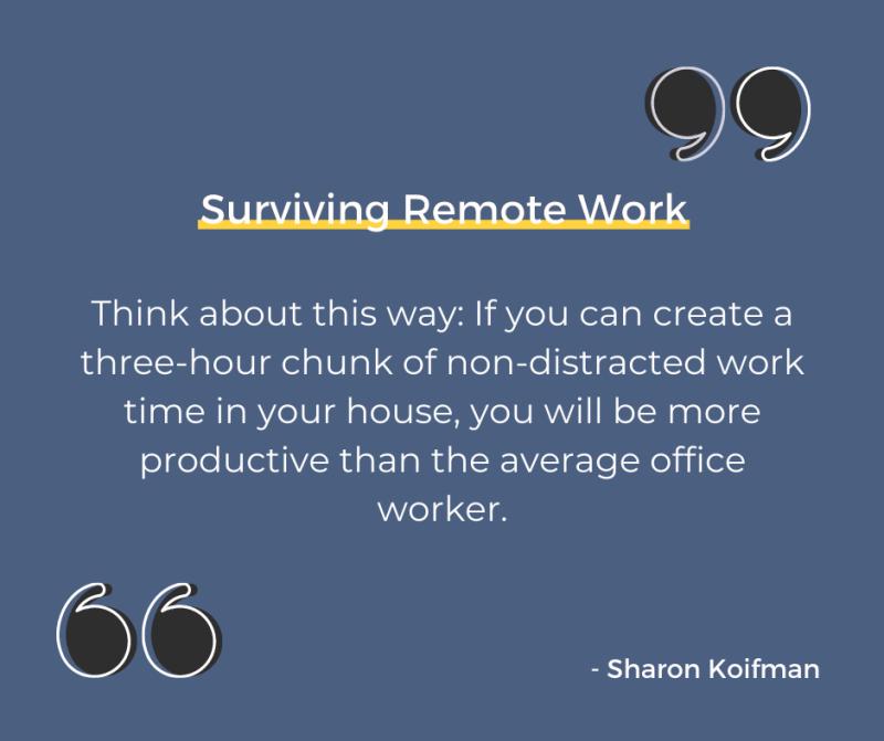 Surviving Remote Work book quote