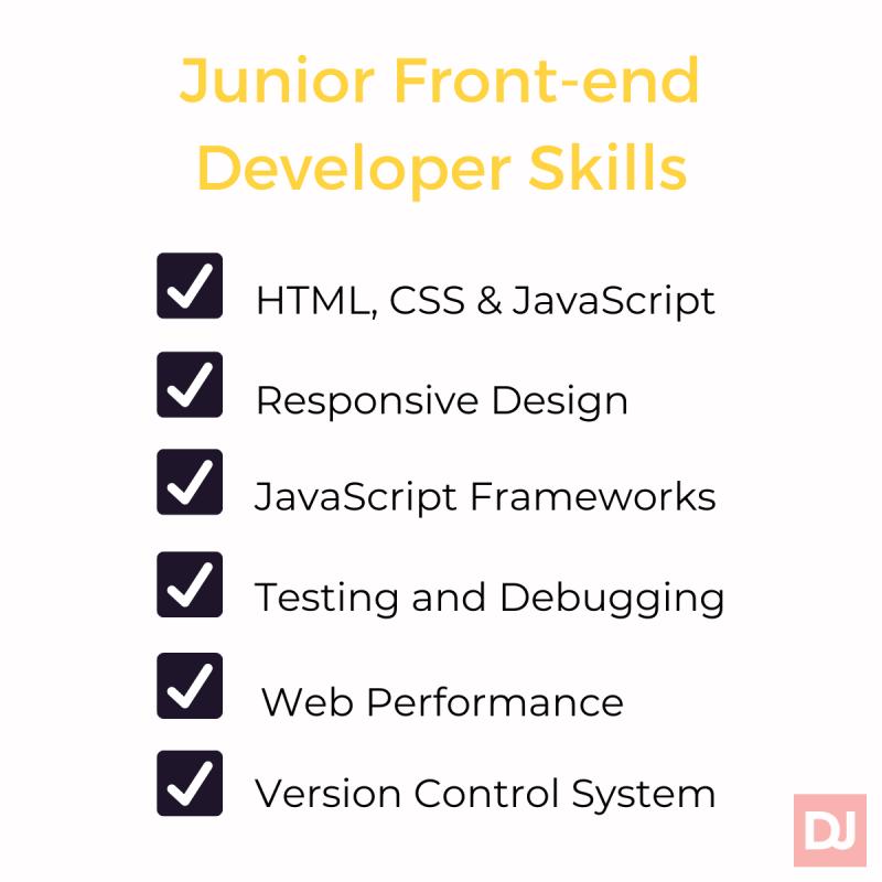 junior front-end developer skills