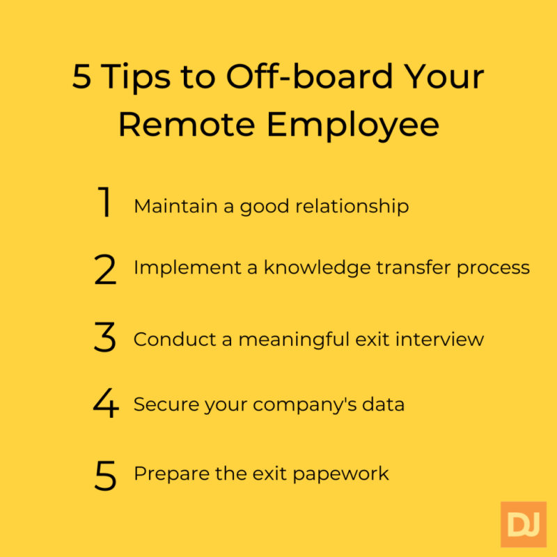 Tips to off board your remote employee