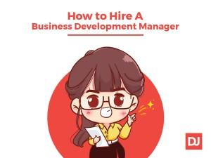Woman business development manager and leader
