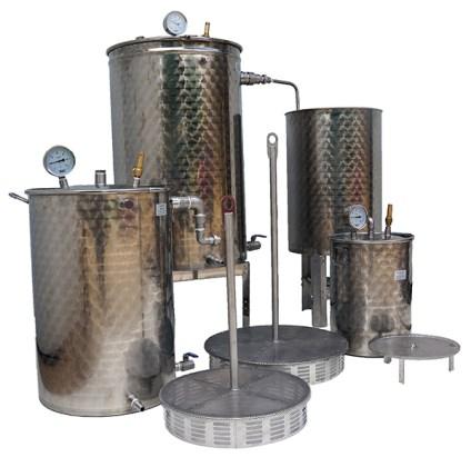 distillateur de plantes INOX multiplantes 50 +150 + 300 litres