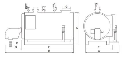 Dimensions 2 chaudière schéma