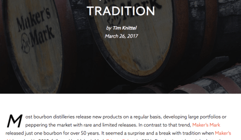 Distiller.com • Bill Samuels, Jr. Article