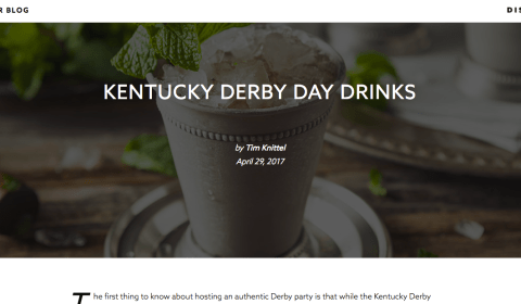 Kentucky Derby Day Drinks Article • Distiller.com