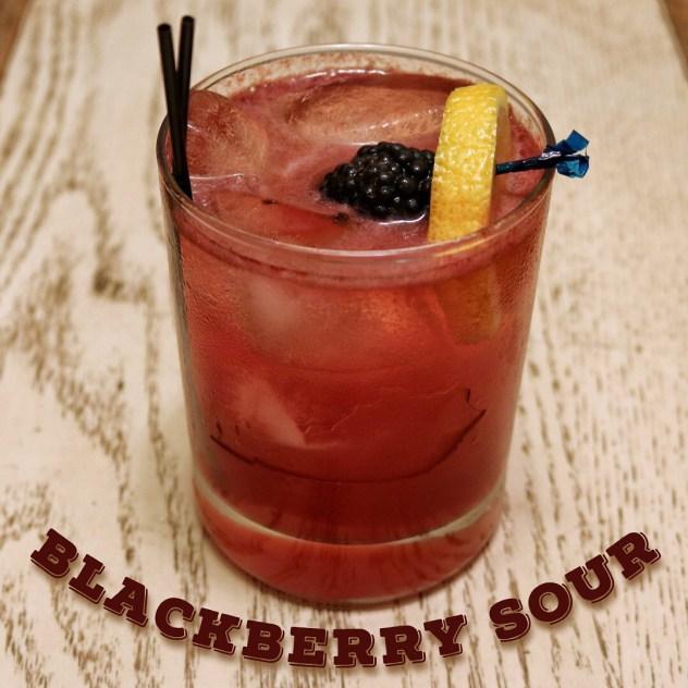 Blackberry Bourbon Sour Cocktail