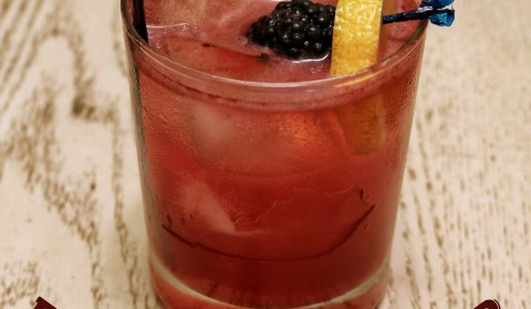 Blackberry Bourbon Sour Cocktail