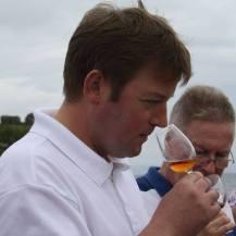 DW hosting a tasting on the pier at Lagavulin Distillery