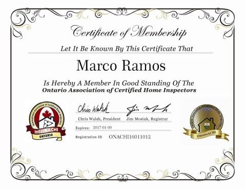 OntarioNACHI Certified