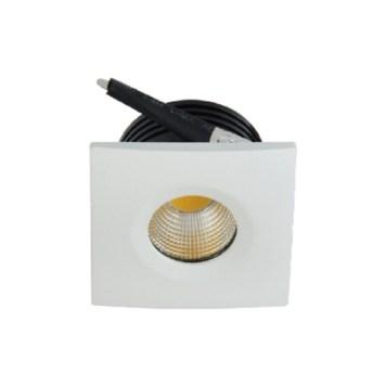 Mini spot LED encastrable carré blanc