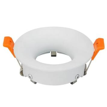 Support spot rond blanc fixe GUI0/MR16 IP20 Diam 85mm