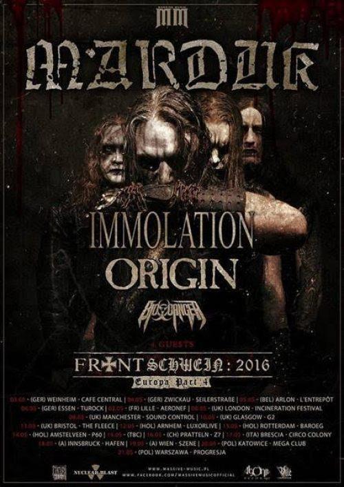 Marduk 2016 Tour Poster