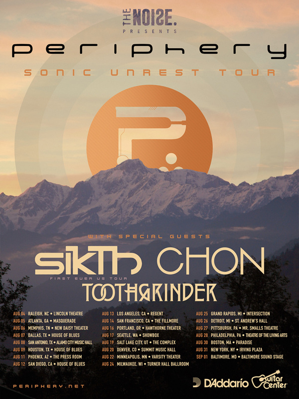 Periphery Sonic Unrest Tour