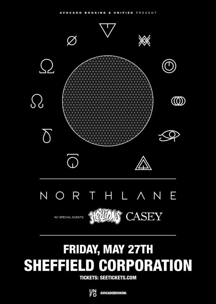 Northlane Sheffield Poster 2016