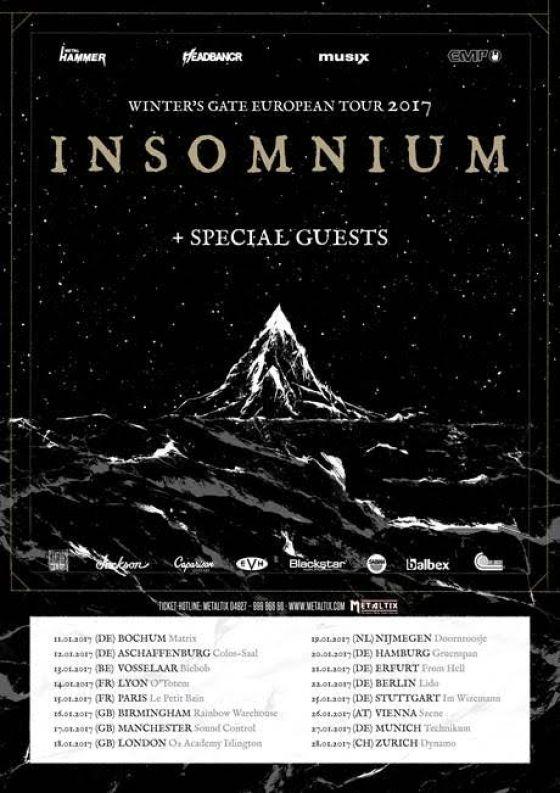 Insomnium European Tour 2017