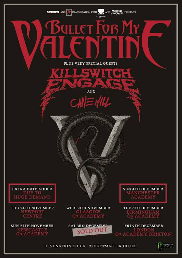 Bullet For My Valentine UK tour 2016