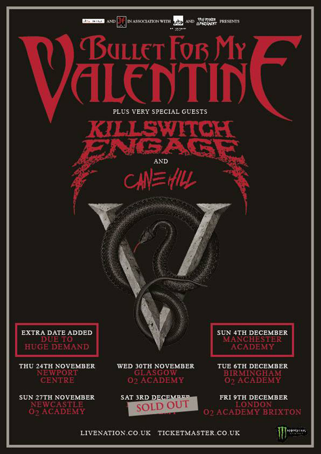 Bullet For My Valentine To Play The Poison In Full