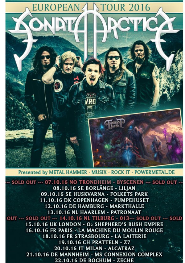 Sonata Arctica and Twilight Force EU tour
