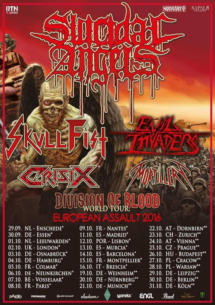 Evil Invaders EU Tour