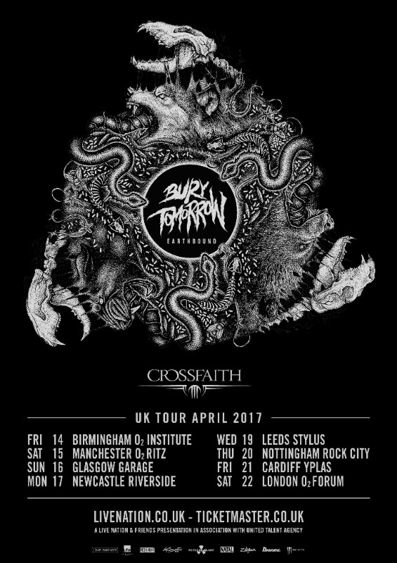 Bury Tomorrow UK tour 2017
