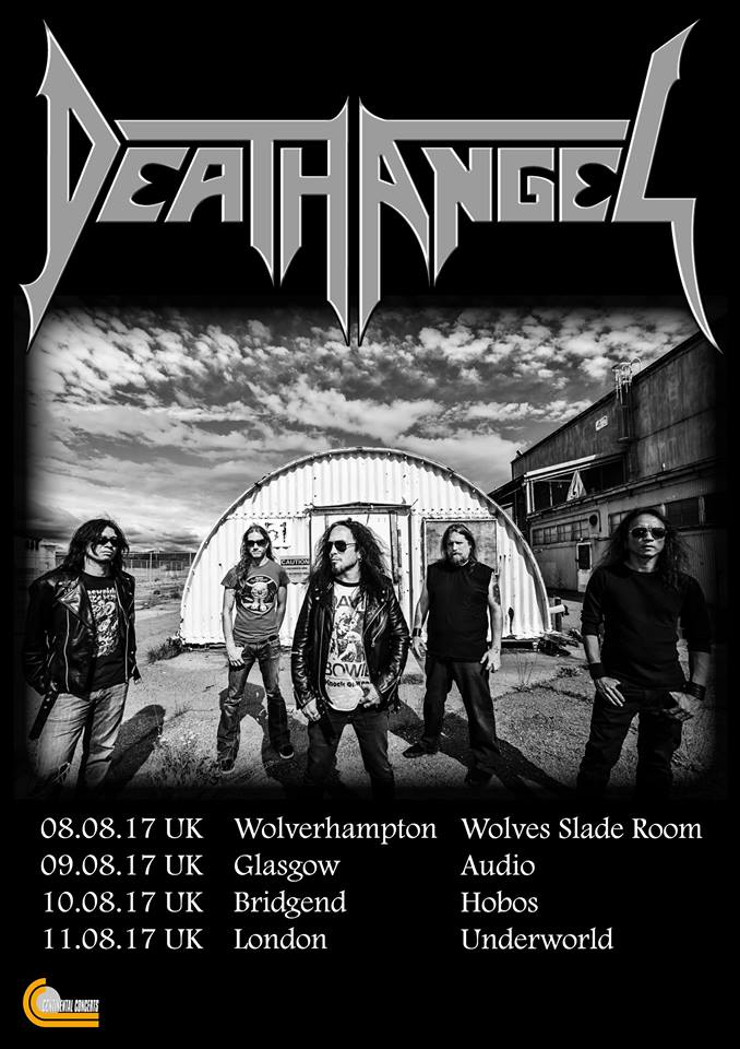 Death Angel UK Tour 2017