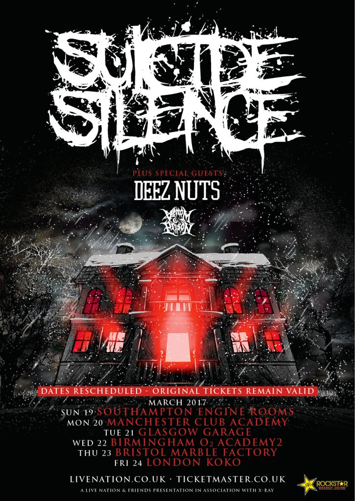 Suicide Silence UK tour