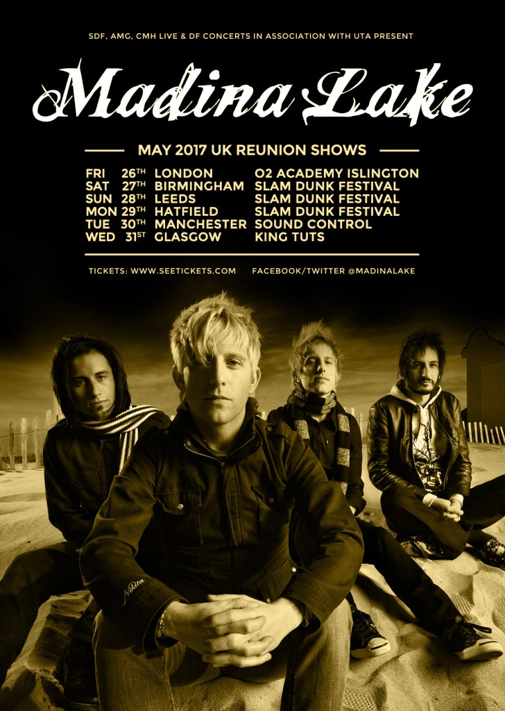 Madina Lake UK tour 2017