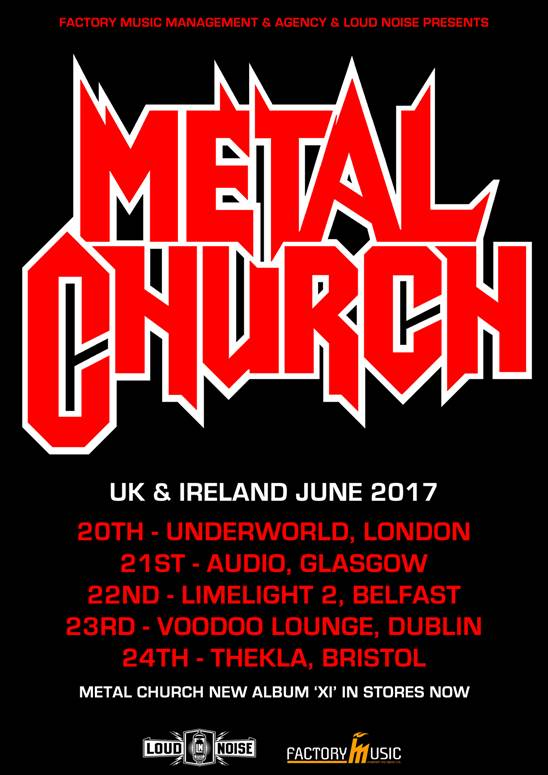 Metal Church UK tour 2017