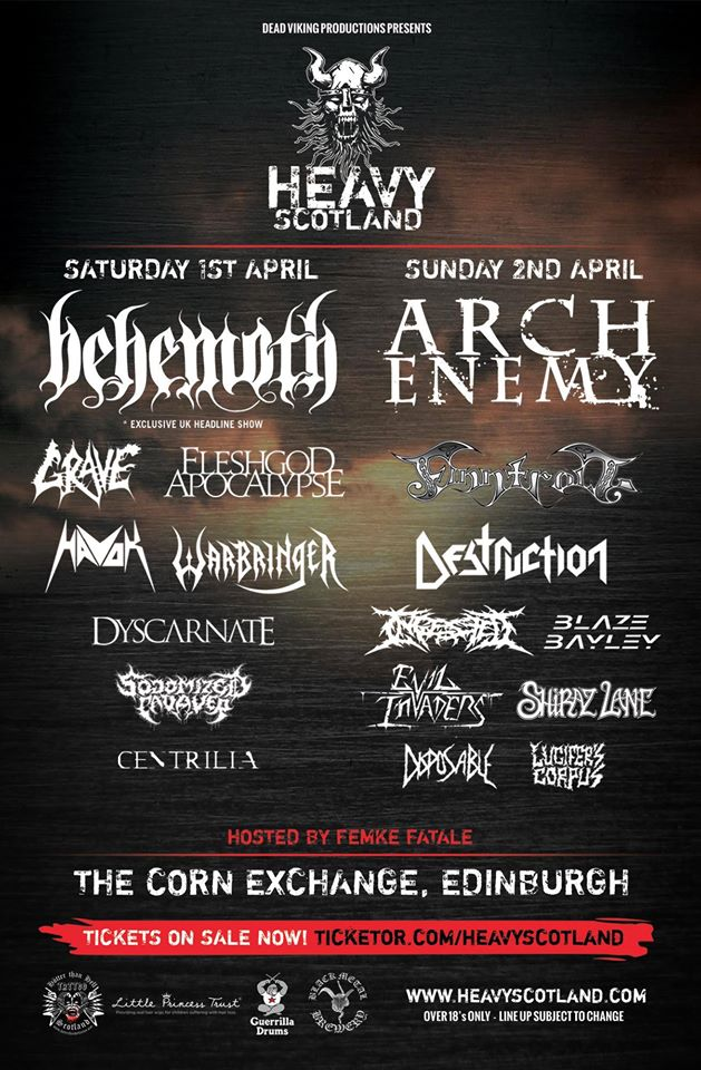 Heavy Scotland Final Lineup 2017