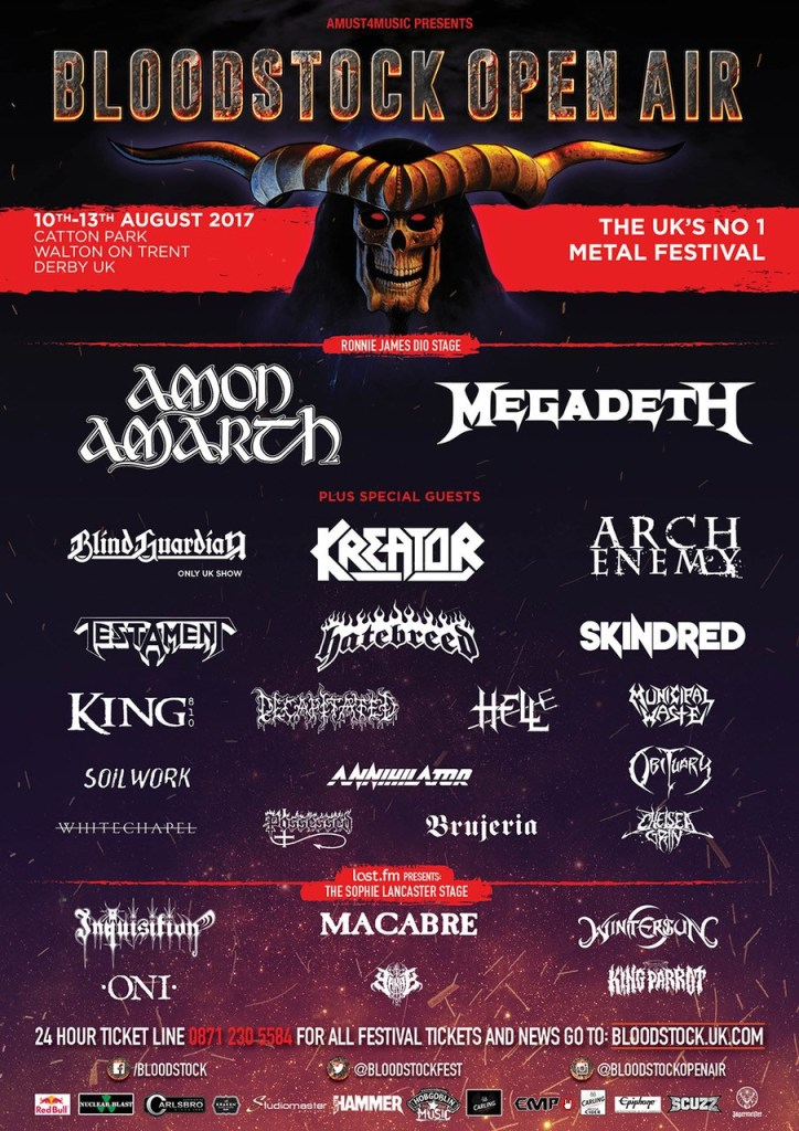 Bloodstock 2017 3 March Lineup