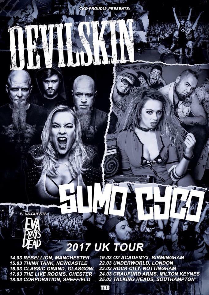 Devilskin/Sumo Cyco/Eva Plays Dead UK Tour