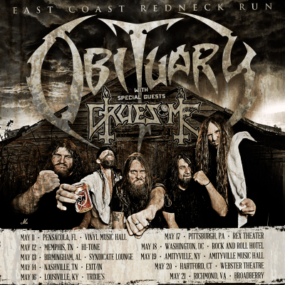 Obituary + Gruesome US tour