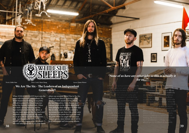 Distorted Sound Issue 24 - While She Sleeps PROMO