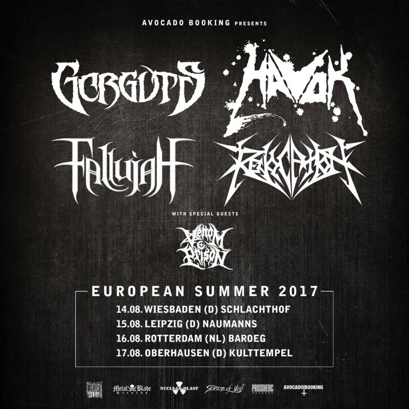 Gorguts, Havok, Fallujah, Revocation, Venom Prison Summer EU Tour