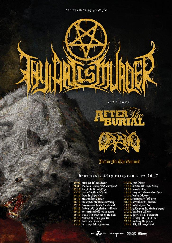 Thy Art Is Murder EU tour 2017