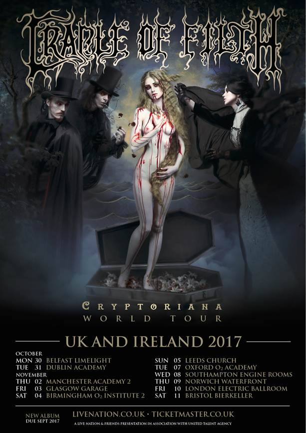Cradle of Filth UK tour 2017