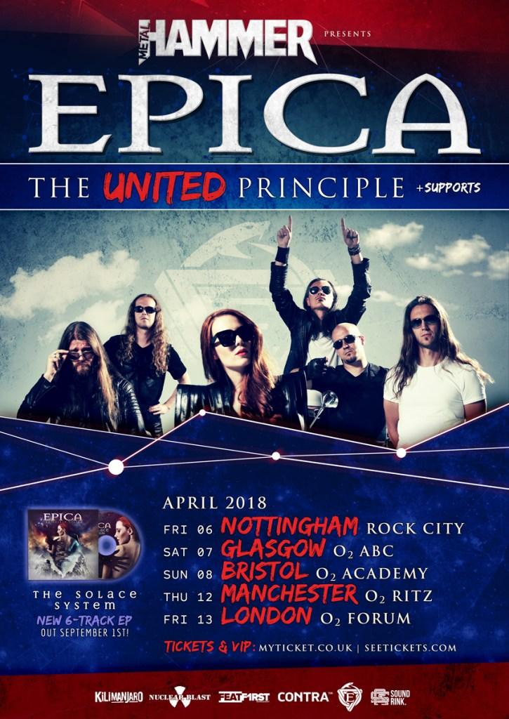 Epica UK tour 2018