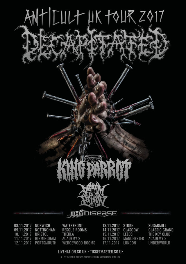 Decapitated UK tour 2017
