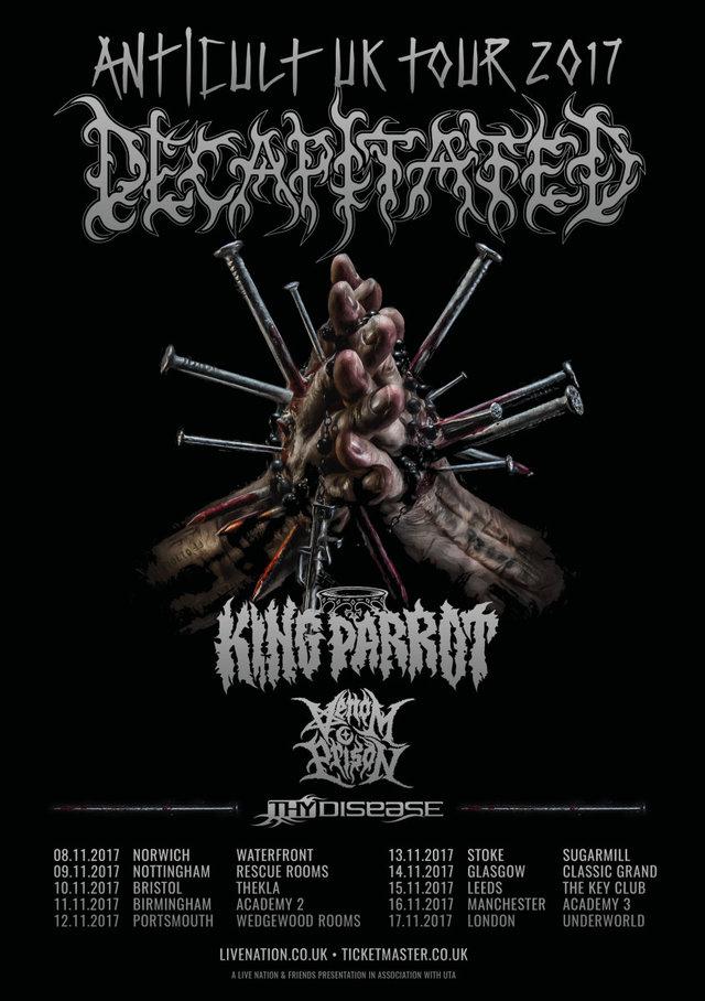 Decapitated UK tour 2017