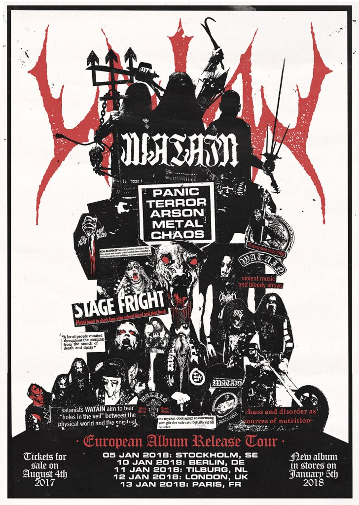 Watain EU Tour 2018