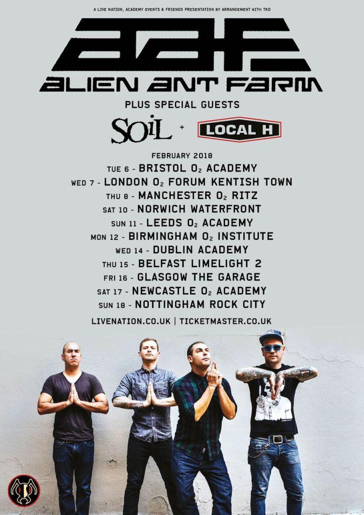 Alien Ant Farm UK/EU Tour 2018