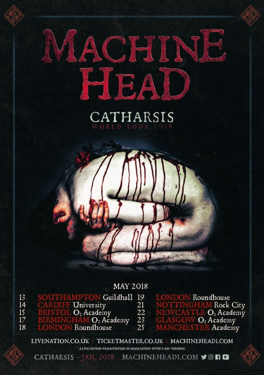 Machine Head UK Tour 2018
