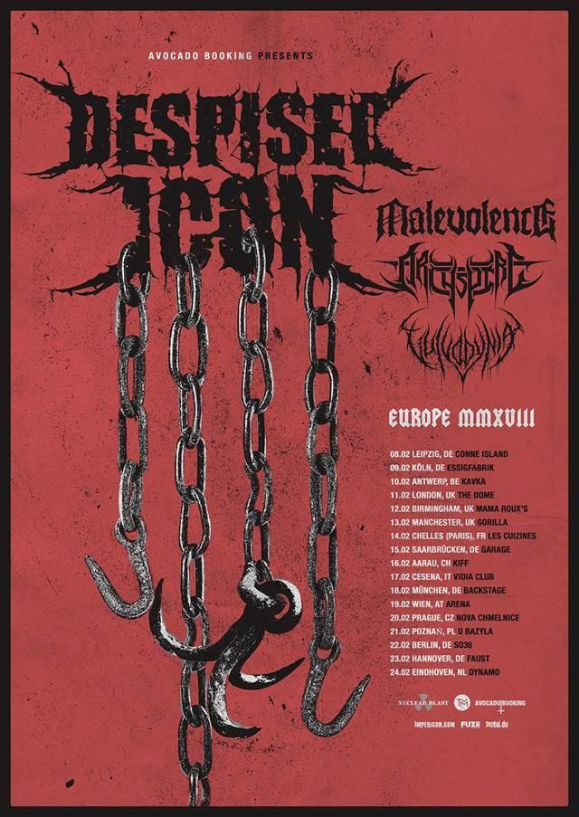 Despised Icon European Tour 2018